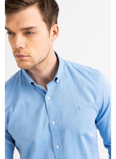 Avva Erkek  Oxford Klasik Yaka Gömlek A01S2272 Mavi